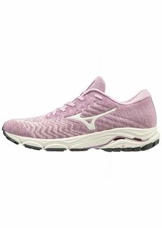 Mizuno Women's Wave Inspire 16 WAVEKNIT Running Shoe Road Ballerina-Snow White  B