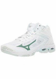 Mizuno Women's Wave Lightning Z5 Mid Volleyball Shoe white  B US