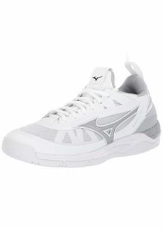 Mizuno Women's Wave Luminous Volleyball Shoe white-silver  B US