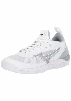 Mizuno Women's Wave Luminous Volleyball Shoe white-silver  B US
