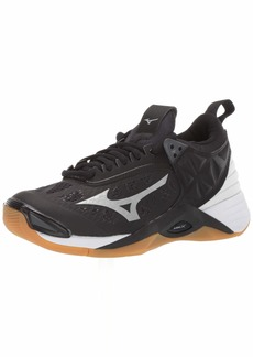 Mizuno Women's Wave Momentum Volleyball Shoe blacksilver  B US