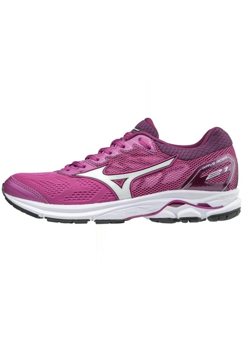 Mizuno Women's Wave Rider 21 Running Shoe Athletic Shoe clover/white  B US
