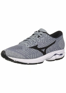 Mizuno Women's Wave Rider 22 Knit Running Shoe Folkstone Gray-Black  B US