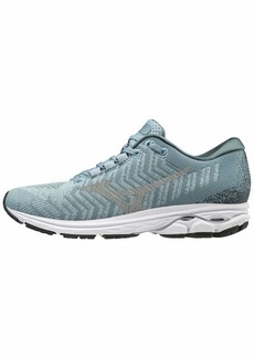 Mizuno Women's Wave Rider 23 WAVEKNIT Running Shoe Fog-Vapor Blue  B US