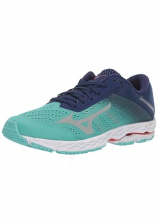 Mizuno Women's Wave Shadow 3 Running Shoe Blue Grass-Glacier Gray  B US