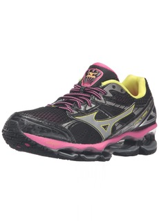 Mizuno Women's Wave Viper-W Running Shoe Black-Fuchsia Pruple-Silver  B US
