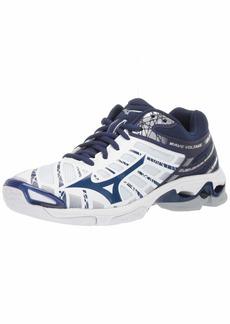 Mizuno Women's Wave Voltage Volleyball Shoe white-navy  B US