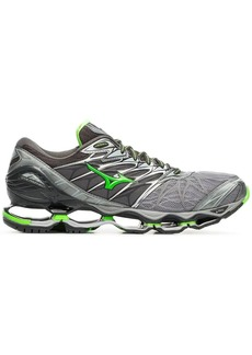 Mizuno X Browns grey and green Wave Prophecy 7 sneakers