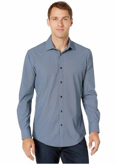 Mizzen+Main Leeward Spade Navy Diamond Print Sport Shirt