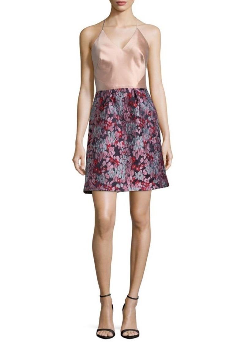 ML Monique Lhuillier Halterneck Dress
