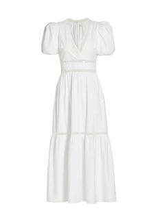 ML Monique Lhuillier Lattice Poplin Dress