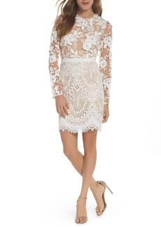 ML Monique Lhuillier Calypso Lace Sheath Dress