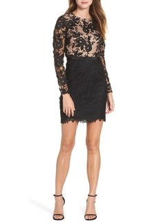 ML Monique Lhuillier Calypso Lace Sheath Dress