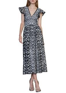 ML Monique Lhuillier Embroidered Lace Cocktail Dress