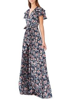 ML Monique Lhuillier Floral Evening Dress