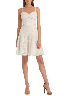 ML Monique Lhuillier Floral Lace Party Dress