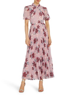 ML Monique Lhuillier Floral Midi Cocktail Dress