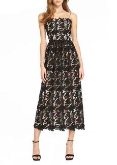 ML Monique Lhuillier Lace Tea Length Dress