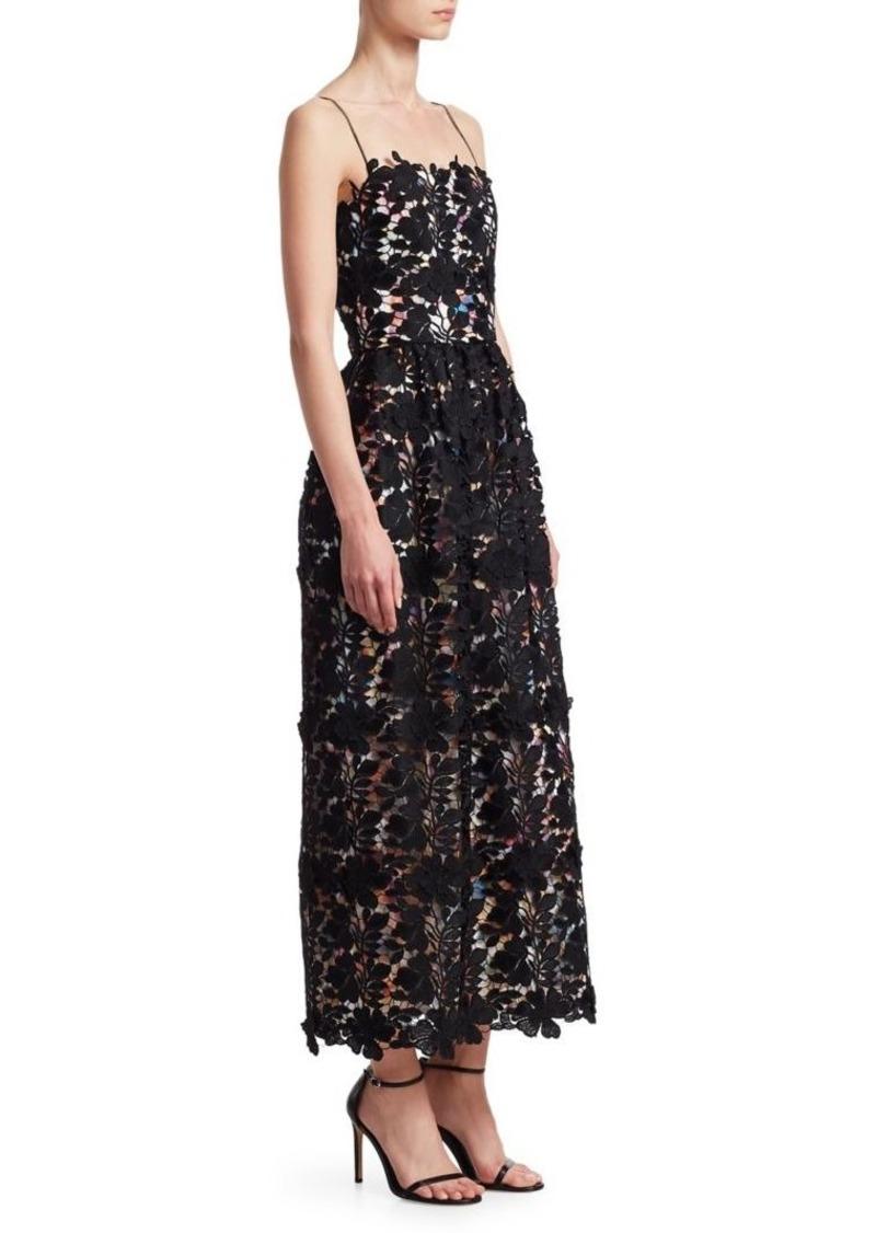 Lace Tea Length Dress Ml Monique Lhuillier