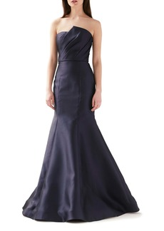 ML Monique Lhuillier Strapless Mermaid Evening Gown