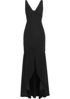 Ml Monique Lhuillier Woman Twist-front Crepe Gown Black