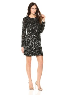 ML Monique Lhuillier Women's Beaded Shift Dress
