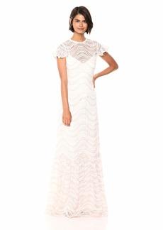 ML Monique Lhuillier Women's Lace Gown