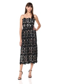 ML Monique Lhuillier Women's Sleeveless Lace Cocktail Dress
