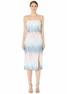 ML Monique Lhuillier Ombre Sequins Midi Dress