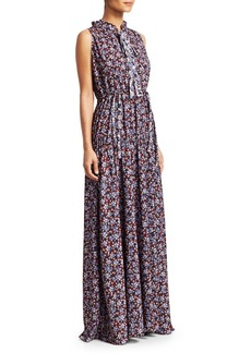 8a2773bc668 On Sale today! ML Monique Lhuillier Multicolor Embroidered Lace Maxi ...