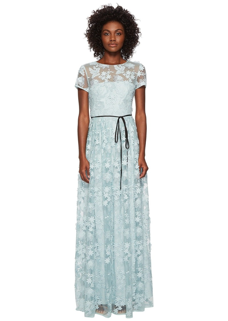 839706c285af SALE! ML Monique Lhuillier Short Sleeve Long Lace Maxi Dress