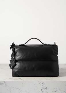 Moncler 1 Jw Anderson Quilted Padded Shell And Leather Tote
