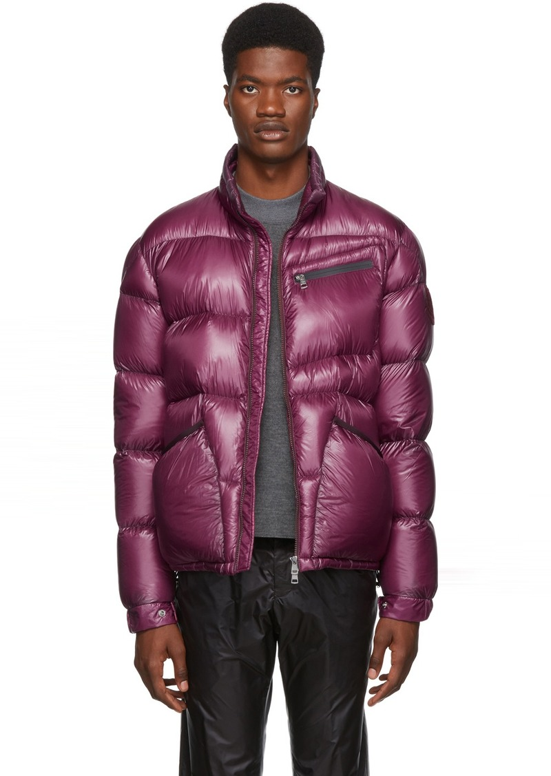 2 Moncler 1952 Burgundy Down Costes Jacket