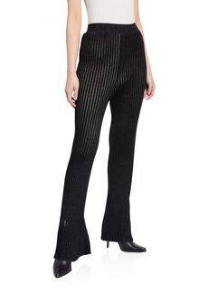 2 Moncler 1952 Long Flared Knit Pants