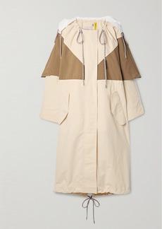 2 Moncler 1952 Violets Oversized Hooded Layered Shell Parka