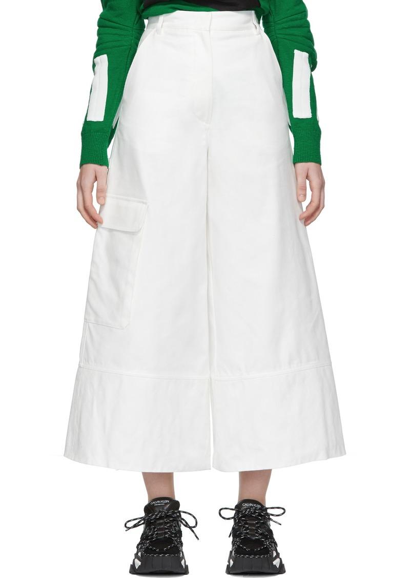 2 Moncler 1952 White Wide-Leg Trousers