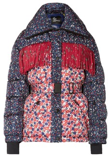 3 Moncler Grenoble Orbeillaz Fringed Floral-print Quilted Down Ski Jacket