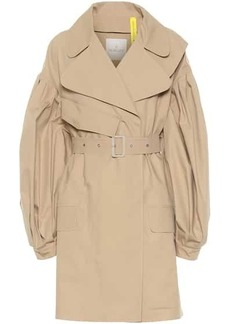 4 MONCLER SIMONE ROCHA cotton gabardine trench coat
