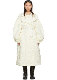 4 Moncler Simone Rocha Off-White Down Dinah Coat