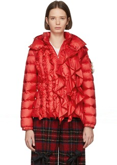 4 Moncler Simone Rocha Red Down Darcy Jacket