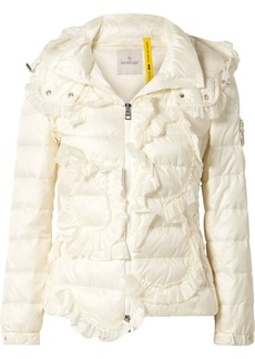 Moncler 4 Simone Rocha Embellished Ruffled Quilted Shell Down Jacket