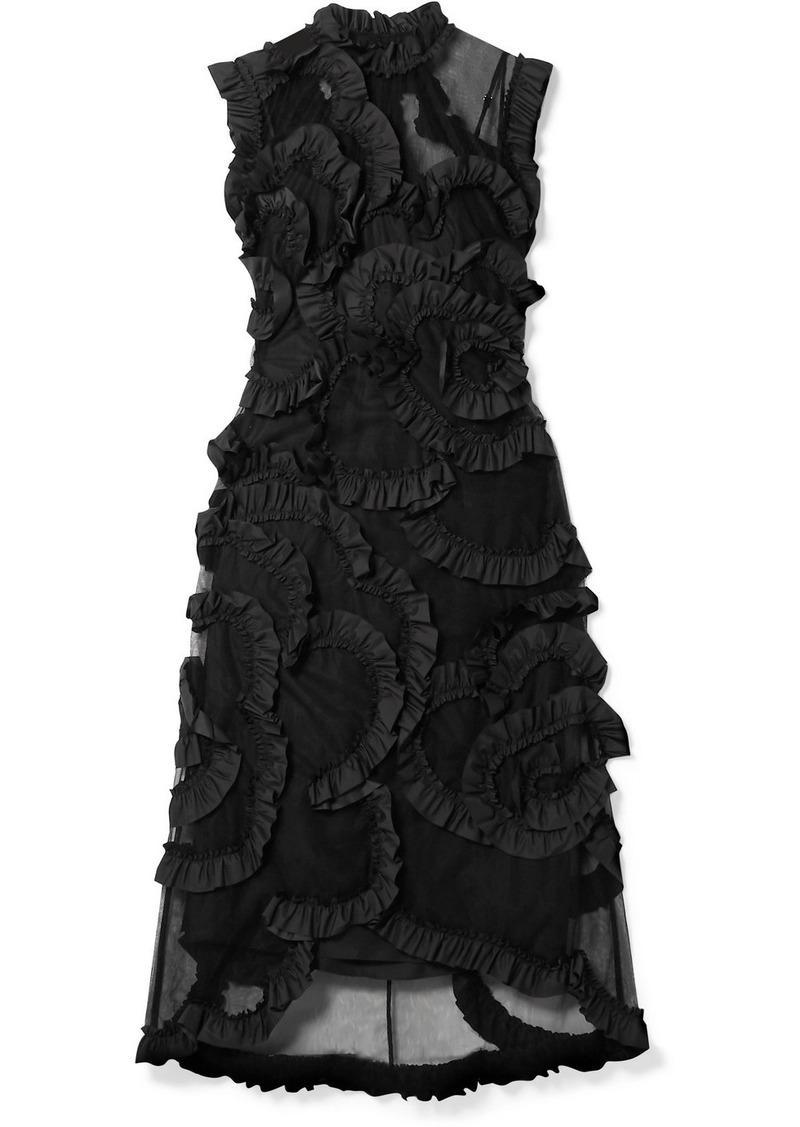 Moncler 4 Simone Rocha Ruffled Shell-trimmed Tulle Dress