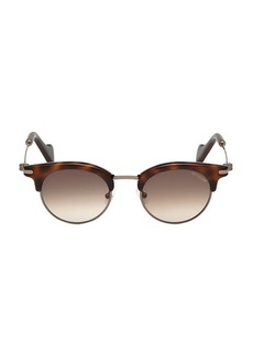 Moncler 47MM Injected Round Sunglasses