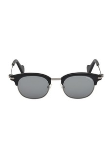 Moncler 49MM Injected Round Sunglasses