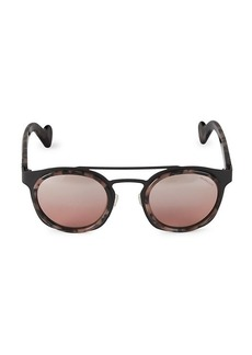 Moncler 49MM Round Sunglasses