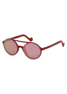 Moncler 53MM Injected Round Sunglasses