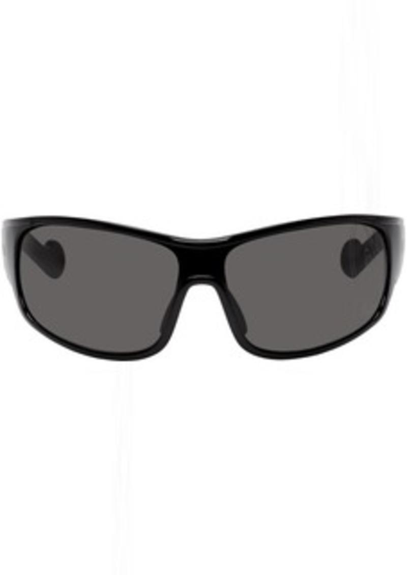 6 Moncler 1017 ALYX 9SM Black Wrap Around Sunglasses