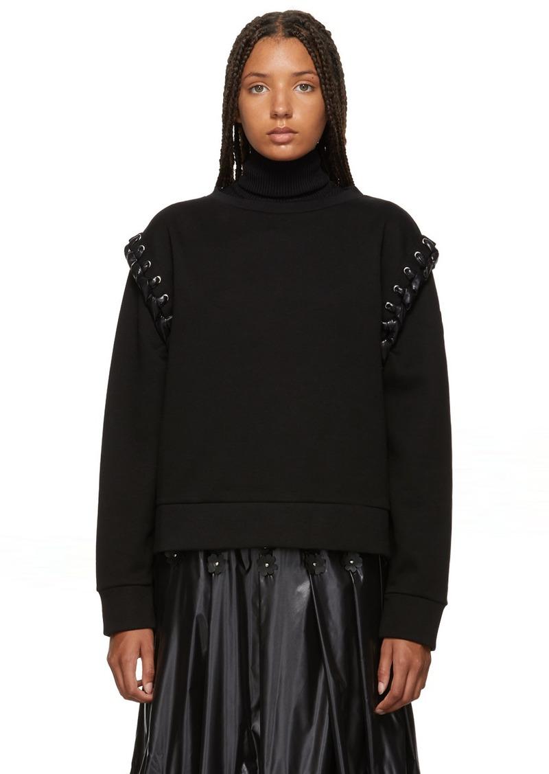 6 Moncler Noir Kei Ninomiya Black Lace-Up Sweatshirt