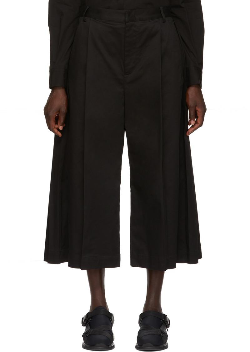 6 Moncler Noir Kei Ninomiya Black Wide Leg Trousers