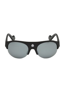 Moncler 60MM Injected Oval Sunglasses